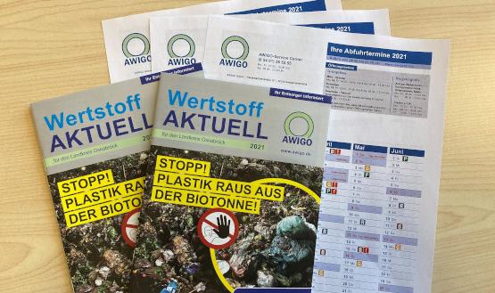 """Müllabfuhrkalender und neues """"Wertstoff aktuell""""-Heft werden verteilt"""