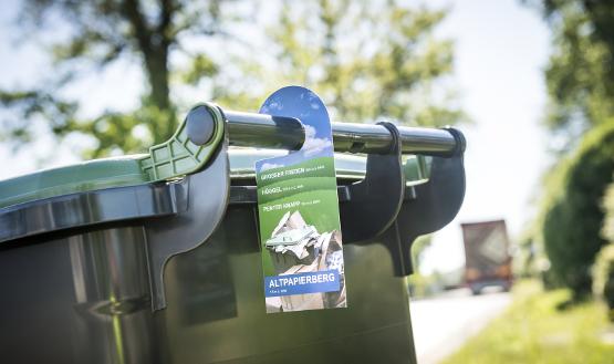 Papierabfuhr im Landkreis: Neue Tonnenanhänger