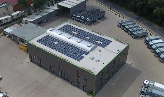 Solarstrom vom Werkstattdach