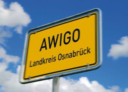 Ortsschild AWIGO