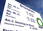 Grünplatz-Öffnungszeiten